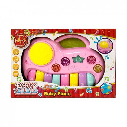 Nagy tudású bébi zongora (rózsaszín)