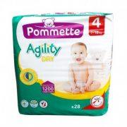 Pommette Agility nadrágpelenka 4 Maxi 7-18 kg 28 db
