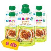 Hipp BIO bolognai spagetti, 8 hó+ (6x130 g) - tasakos menü