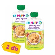 Hipp BIO zöldséges-paradicsomos tészta, 6 hó+ (2x130 g) - tasakos menü