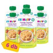 Hipp BIO zöldséges-paradicsomos tészta, 6 hó+ (6x130 g) - tasakos menü