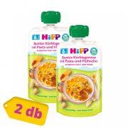 Hipp BIO zöldséges-sütőtökös tészta csirkehússal, 6 hó+ (2x130 g) - tasakos menü