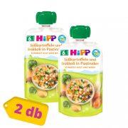 Hipp BIO édesburgonya-brokkoli pasztinákban, 6 hó+ (2x100 g) - tasakos menü