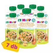 Hipp BIO édesburgonya-brokkoli pasztinákban, 6 hó+ (7x100 g) - tasakos menü