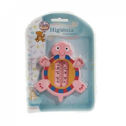 BabyBruin vízhőmérő - pink teknős