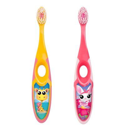 Jordan soft gyerek fogkefe 3-5 éves korig (rózsaszín) - nyuszi