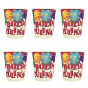 Léggömbös parti pohár Boldog szülinapot! felirattal - 250 ml (6 db)