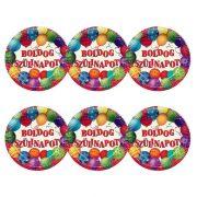 Léggömbös parti tányér Boldog Szülinapot! felirattal - 23 cm (6 db)
