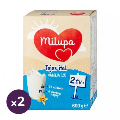 Milupa vanília ízű tejes ital-gyerekital 24 hó+ (2x600 g)