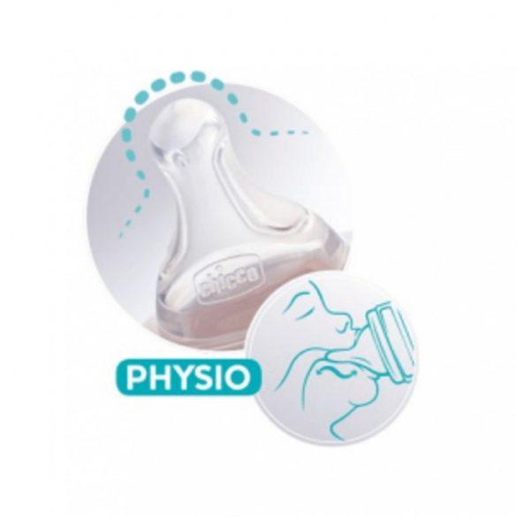 Chicco Perfect5 közepes folyású physio szilikon etetőcumi 2 hó+ (2 db)