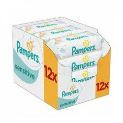 Pampers Sensitive nedves törlőkendő 12x56 db