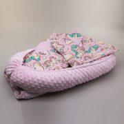MauKids Újszülött szett: babafészek, takaró, pelenkázó szett - rózsaszín