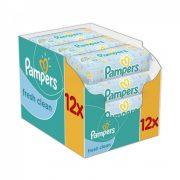 Pampers Fresh Clean nedves törlőkendő 12x64 db