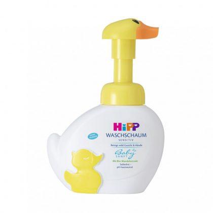 Hipp Babysanft sensitiv kacsás pumpás mosakodóhab (250 ml)