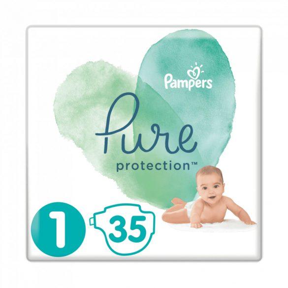 Pampers Pure Protection pelenka, Újszülött 1, 2-5 kg, HAVI PELENKACSOMAG 4x35 db