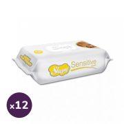 Sleepy Sensitive törlőkendő kupakos 12x70 db