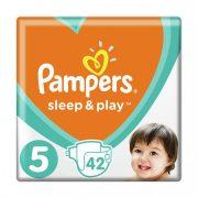 Pampers Sleep & Play pelenka, Junior 5, 11-18 kg, 42 db-os