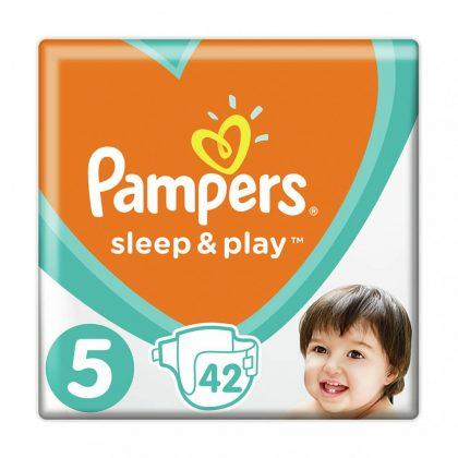 Pampers Sleep & Play pelenka, Junior 5, 11-16 kg, 42 db-os