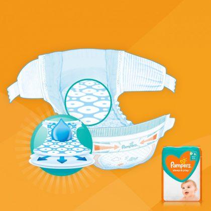 Pampers Sleep & Play pelenka, Junior 5, 11-16 kg, HAVI PELENKACSOMAG 4x42 db