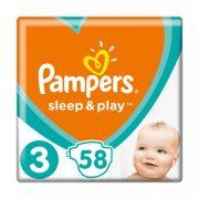 Pampers Sleep & Play, Midi 3, 6-10 kg, 58 db-os