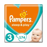 Pampers Sleep & Play, Midi 3, 6-10 kg, HAVI PELENKACSOMAG 3x58 db
