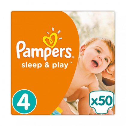 Pampers Sleep & Play pelenka, Maxi 4, 9-14 kg, 50 db