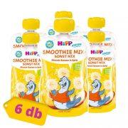 Hipp BIO smoothie mix őszibarack-alma-banán, 12 hó+ (6x120 ml)