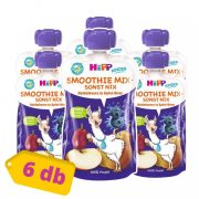 Hipp BIO smoothie mix áfonya körtés almában, 12 hó+ (6x120 ml)