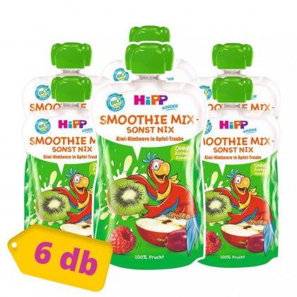Hipp BIO smoothie mix szőlő-kiwi-málna almában, 12 hó+ (6x120 ml)