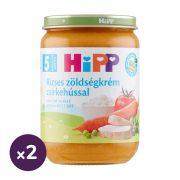Hipp BIO rizses zöldségkrém csirkehússal, 5 hó+ (2x190 g)