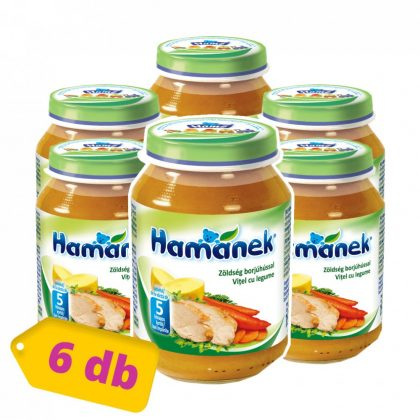 Hamánek bébiétel zöldség borjúhússal, 5 hó+ (6x190 g)