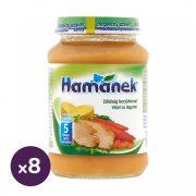 Hamánek bébiétel zöldség borjúhússal, 5 hó+ (8x190 g)