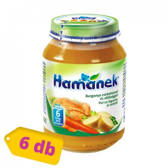 Hamánek bébiétel burgonya csirkehússal és zöldséggel, 6 hó+ (6x190 g)