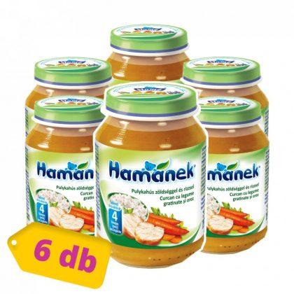 MEGSZŰNT - Hamánek bébiétel pulykahús zöldséggel és rizzsel, 4 hó+ (6x190 g)