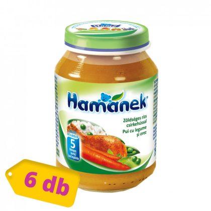 MEGSZŰNT - Hamánek bébiétel zöldséges rizs csirkehússal, 5 hó+ (6x190 g)