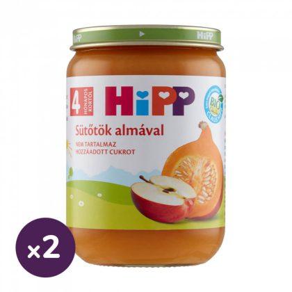 Hipp BIO sütőtök almával, 4 hó+ (2x190 g)