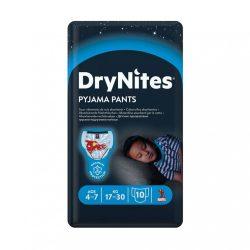 Huggies Drynites éjszakai pelenka 4-7 éves korú fiúnak (17-30 kg), 10 db