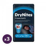 Huggies Drynites éjszakai pelenka 4-7 éves korú fiúnak (17-30 kg), 3x10 db