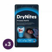 Huggies Drynites éjszakai pelenka, 4-7 éves korú fiúnak, 17-30 kg, 3x10 db