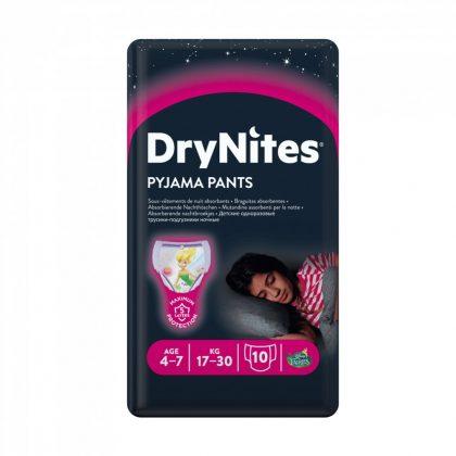 Huggies Drynites éjszakai pelenka, 4-7 éves korú lánynak, 17-30 kg, 10 db