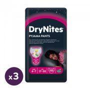 Huggies Drynites éjszakai pelenka, 4-7 éves korú lánynak, 17-30 kg, 3x10 db