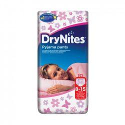 CSOMAGOLÁSSÉRÜLT - Huggies Drynites éjszakai pelenka 8-15 éves korú lánynak (27-57 kg), 9 db