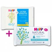 Hipp Babysanft + Hipp Natural Aqua nedves törlőkendő (2x10 db)