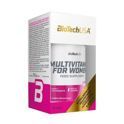 BioTechUSA Multivitamin for women tabletta (60 db)