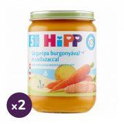 Hipp BIO sárgarépa burgonyával és vadlazaccal, 5 hó+ (2x190 g)
