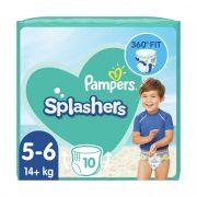 Pampers Splashers úszópelenka, méret: 5-6 (14 kg+), 10 db