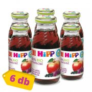 Hipp BIO alma-szőlő-feketeribizli gyümölcslé C-vitaminnal, 4 hó+ (6x200 ml)