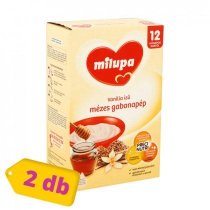 Milupa vanília ízű mézes gabonapép 12 hó+ (2x250 g)