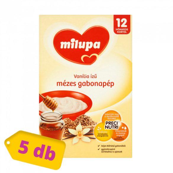 Milupa vanília ízű mézes gabonapép 12 hó+ (5x250 g)