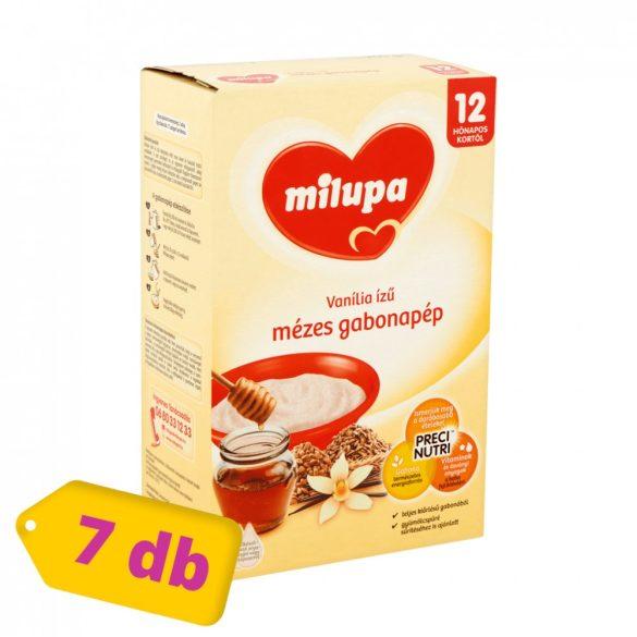 Milupa vanília ízű mézes gabonapép 12 hó+ (7x250 g) - MEGSZŰNT - 5-ös pakk váltja